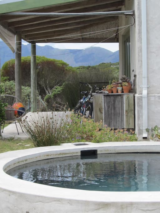Plunge pool looking out onto fynbos reserve