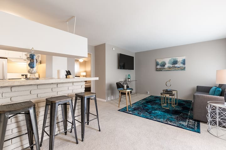1BR Louvers Wald 8 | Downtown Med Center Stadium