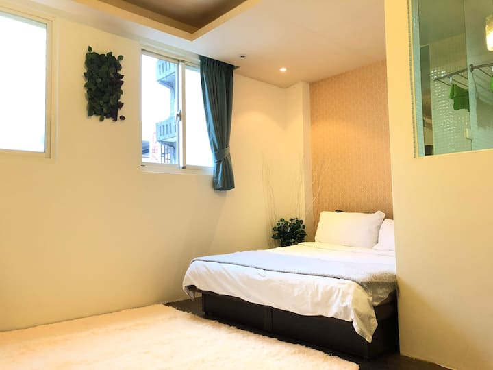 Leafy Chic Studio | 4 min walk to Ximen MRT