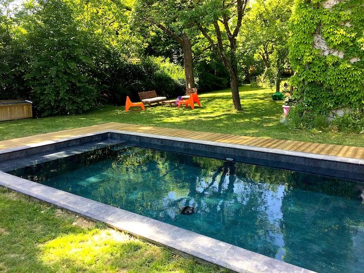 «La Sapinière de Vittel», Villa avec piscine.