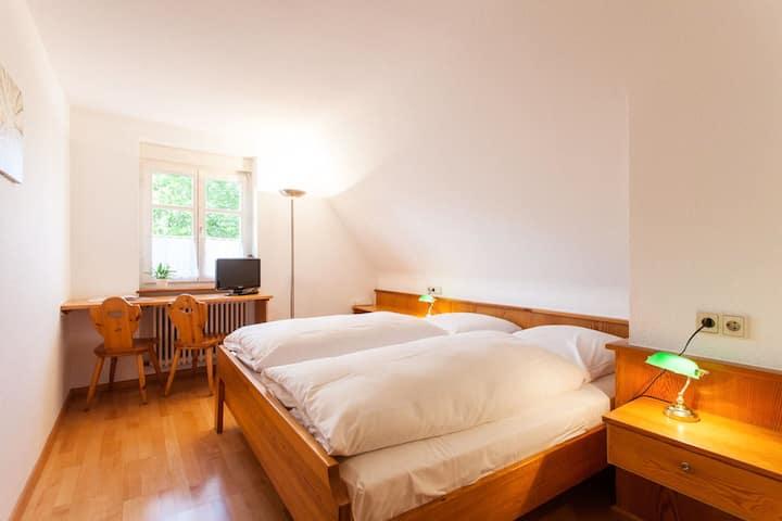 Grüner Baum Merzhausen, (Freiburg-Merzhausen), Doppelzimmer mit Dusche und WC