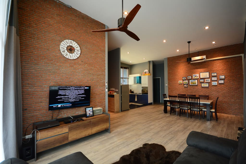 Modern loft mood for the common area