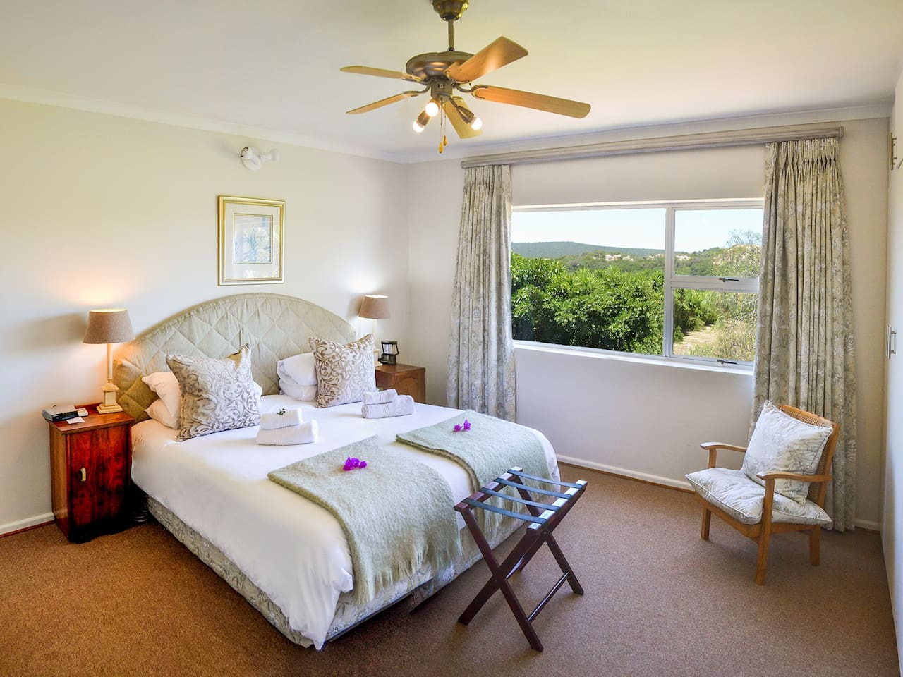 Fish Eagle Bedroom Suite. A sleeper couch available for a child up to 13 years old.