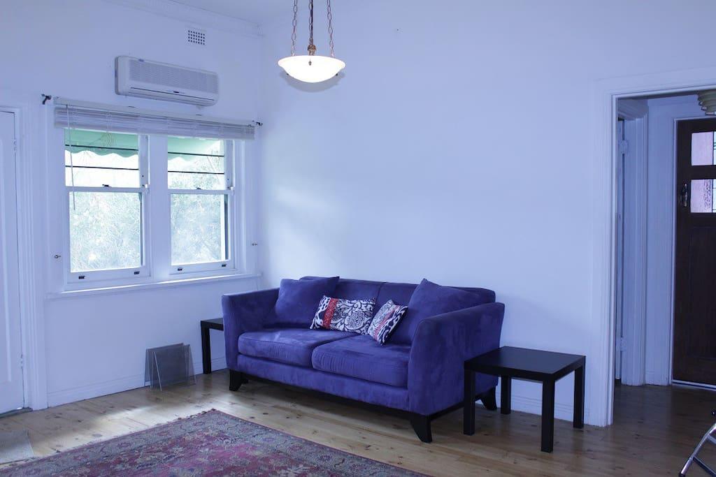 Airy lounge room
