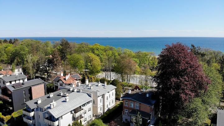 Apartament z balkonem, 100m od plaży
