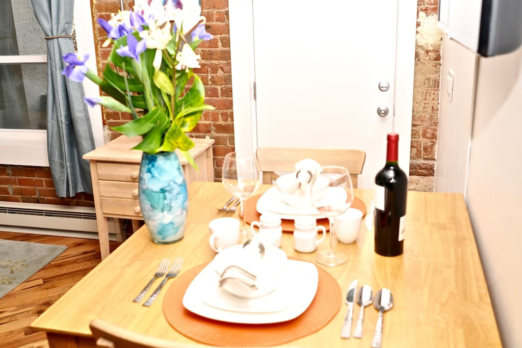 Stay in for dinner! Guests will have everything you'll need: appliances, cookware, dishes, etc.