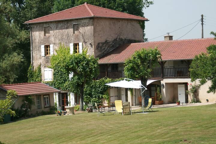 Gîte 10/11 personnes le moulin de saint jacques - Saint-Jacques-des-Arrêts - Rumah tumpangan alam semula jadi
