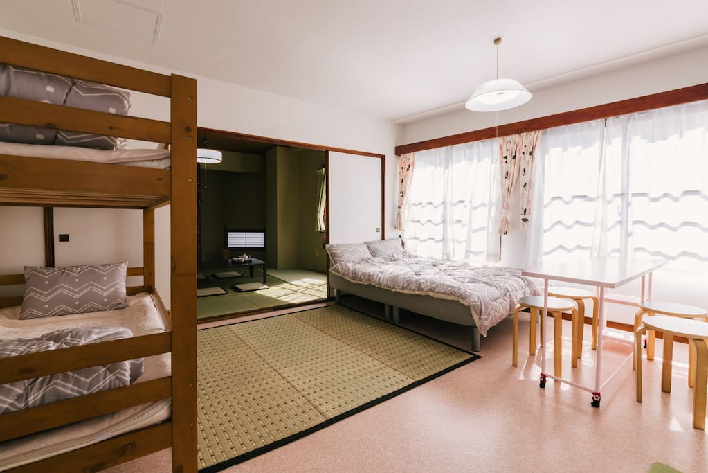 2F Room(Japan style room+Bed room)Only you can use