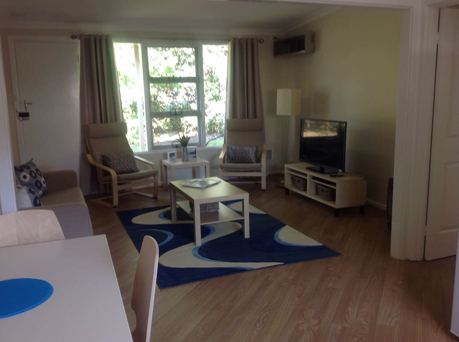 Main living including TV , DVD , gas heater comfy lounge