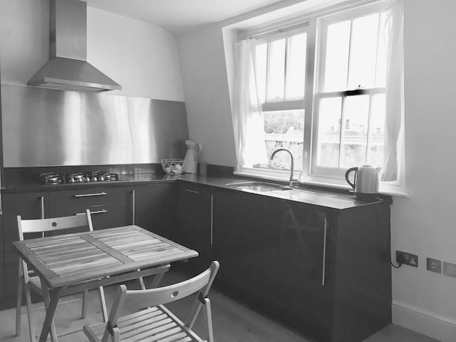 Kitchen area fully furnished -all amenities included