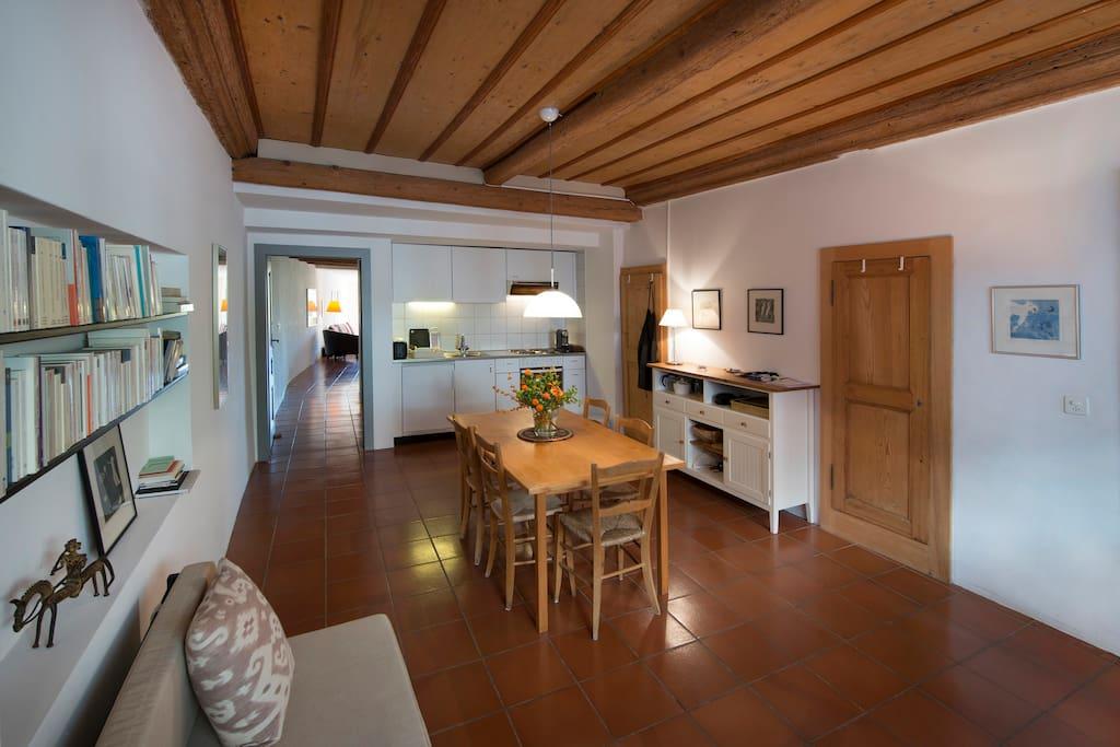 La Galerie, cuisine-salle à manger
