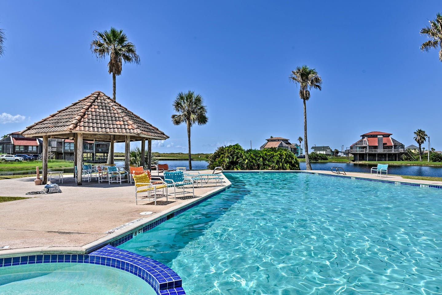 Cool off in the vacation rental's community pool.