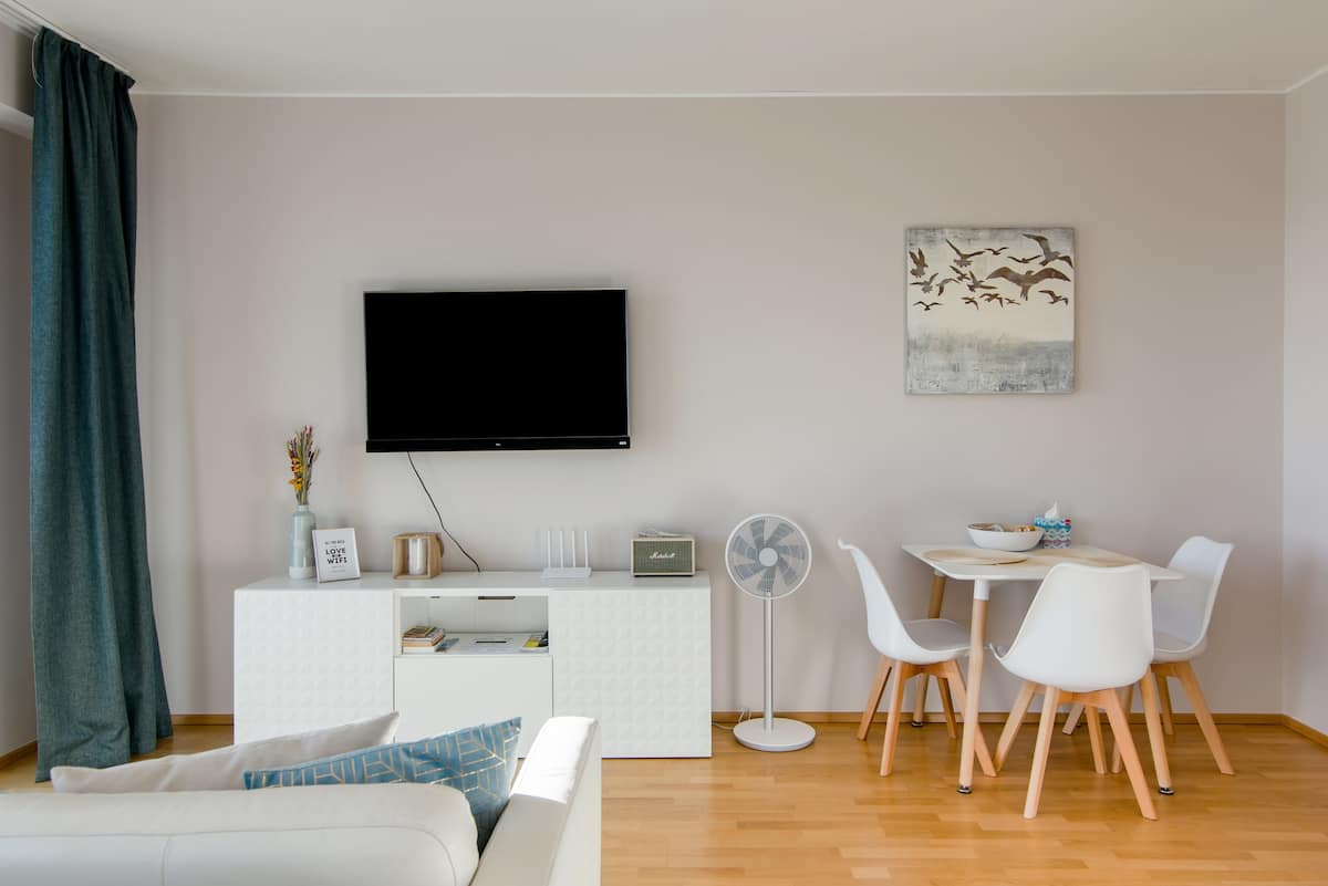 Explore Prague from a Bright Studio with Park View