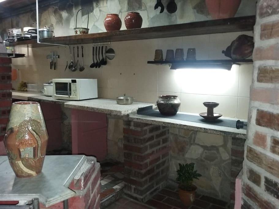 Cocina donde se elaboran los desayunos