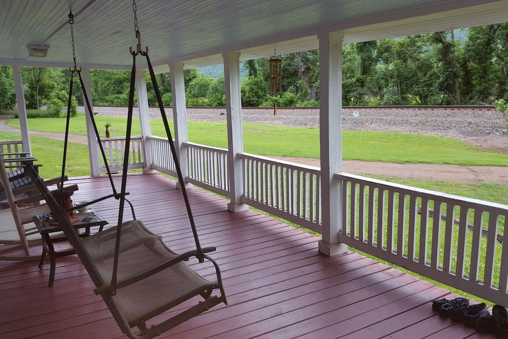 Enjoy the view from the huge covered front porch.
