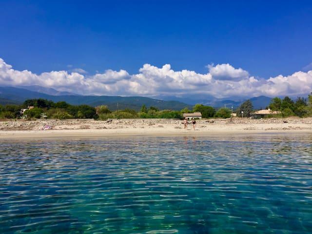Corse Solenzara Solaro - Villa plage sauvage