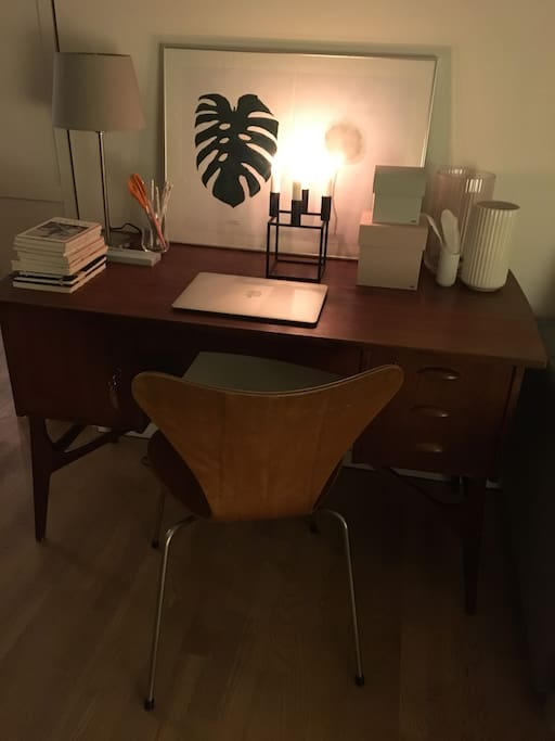 Stue, skrivebord
