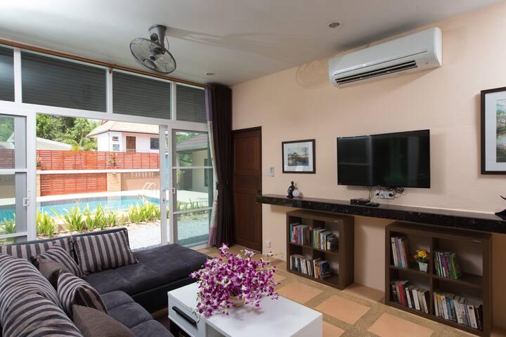 家庭时光花园洋房(Family Time Villa with living room )