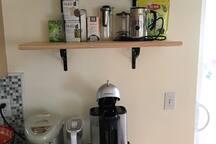 Nespresso and tea station
