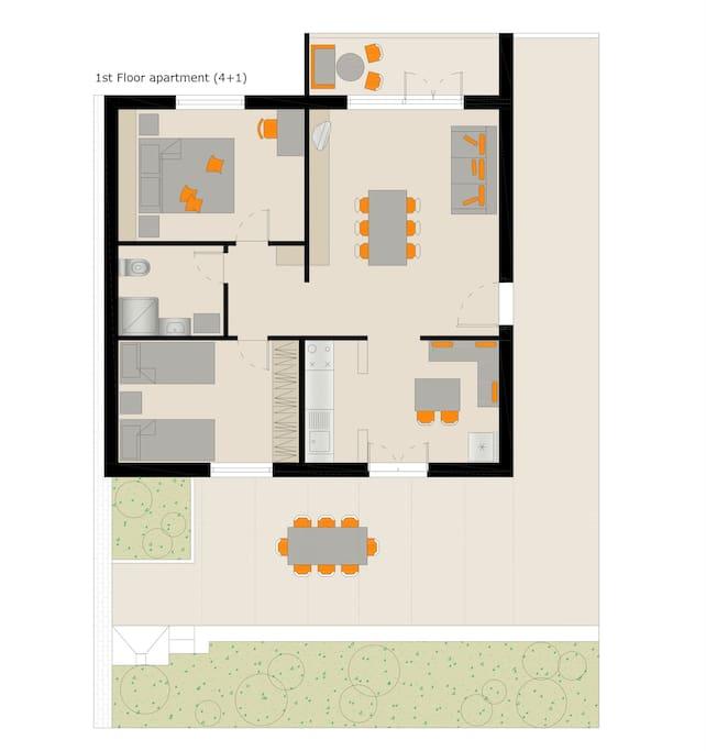 First floor apartment plan