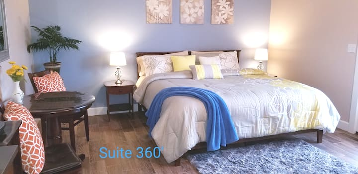 Private Entrance,deep clean,king bed,very quiet