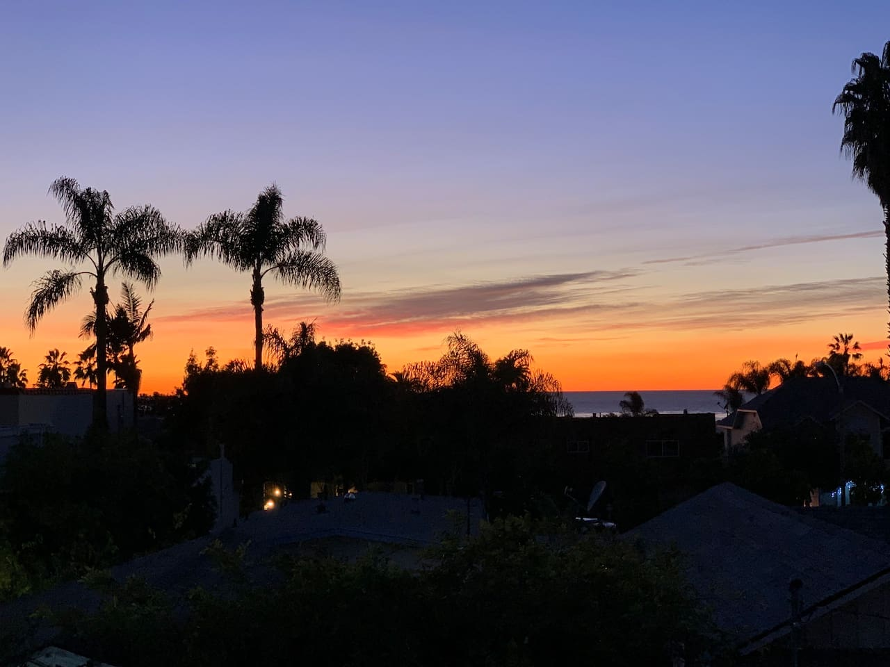 Another beautiful view of the sunset and ocean from your private deck!
