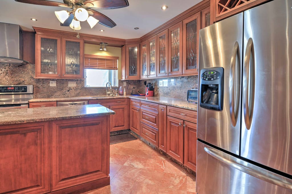 This home features 2 fully equipped kitchens.