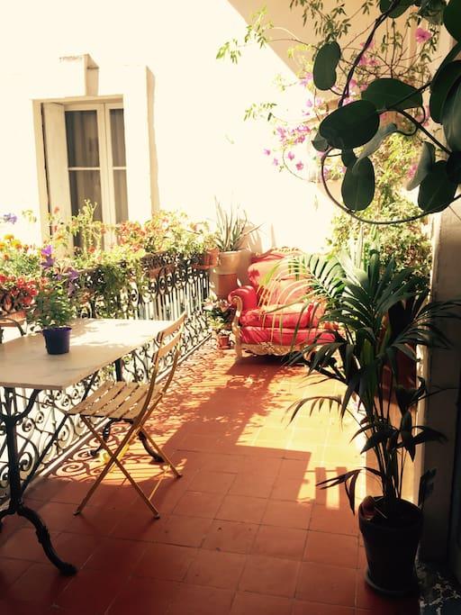 La terrasse depuis la salle à manger !