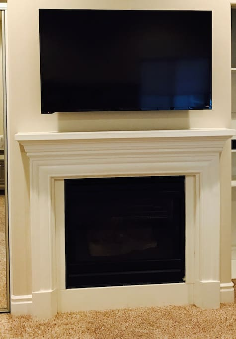Flat screen TV w/ cable