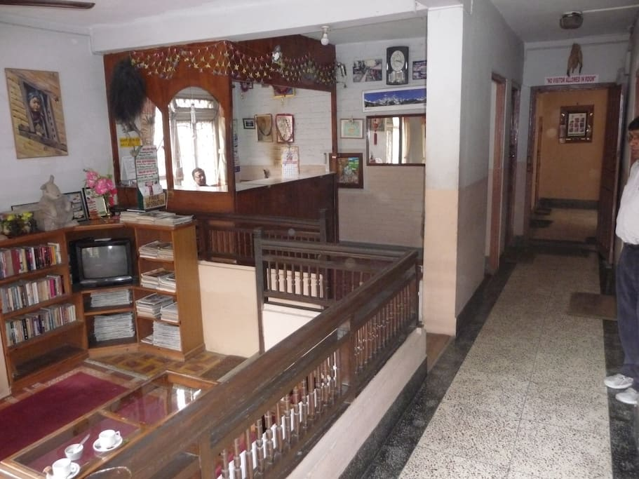 Spacious reception and guest center for housekeeping requests, trekking inquiries, etc.