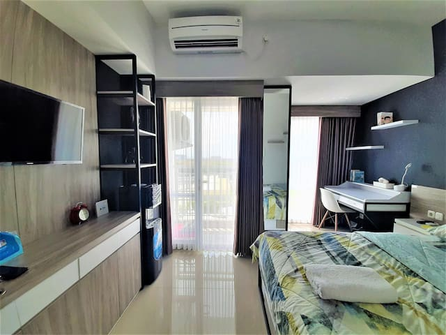 Studio Apartemen Taman Melati + NETFLIX + Cable TV