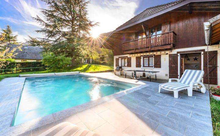 Maison individuel avec vue du lac d'Annecy