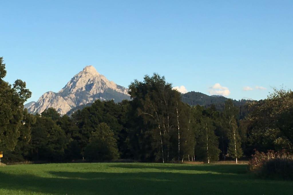 Atemberaubender Blick auf dem Weg zum Weissensee