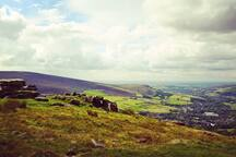 A view over Uppermill and Saddleworth