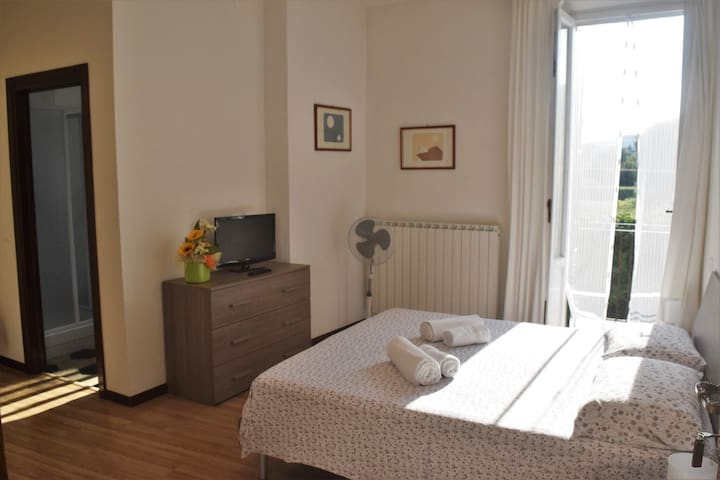Double room  with private bathroom and balcony.
