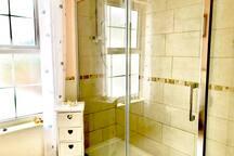 Large sunny bathroom