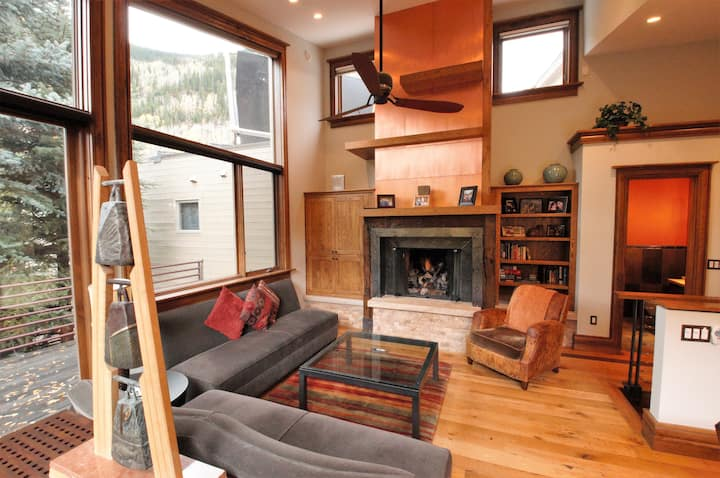 Luxury Home near Golf & Ski Shuttle w/ Private Hot Tub, Fireplace, Media Room!