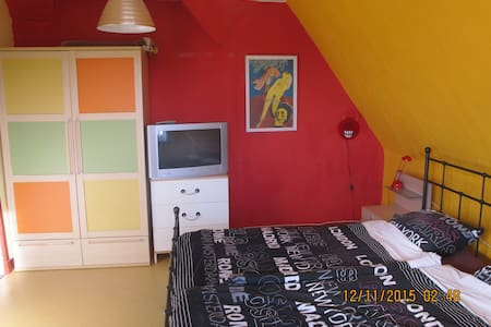 Large loft with parkingplace near Beach& Amsterdam - Casa