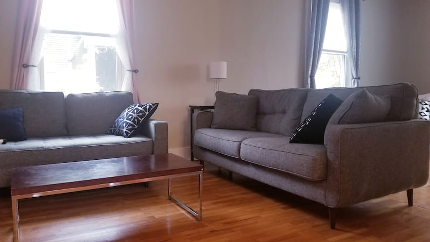 Second half of living room with even more seating