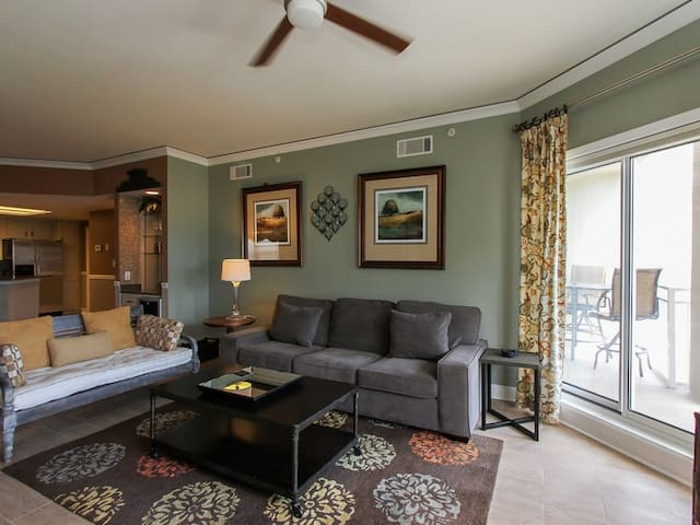 Living Room with Wonderful Views at 6403 Hampton Place