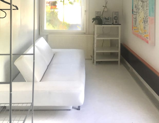 Sofa bed in a Artist Studio