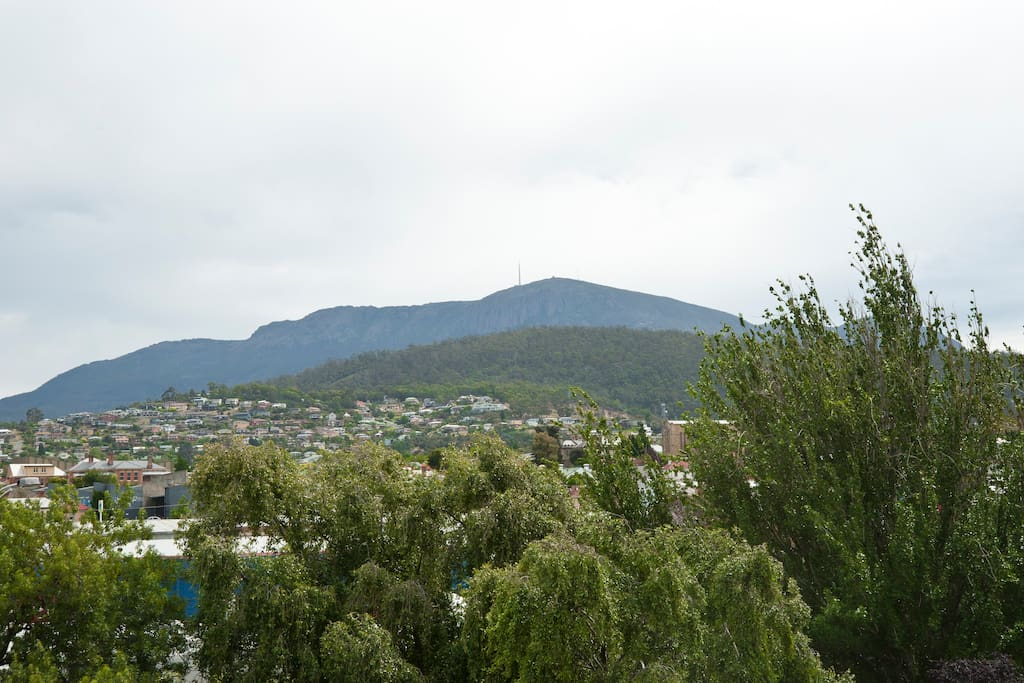 Watch the ever changing vista that is Mount Wellington from your suite