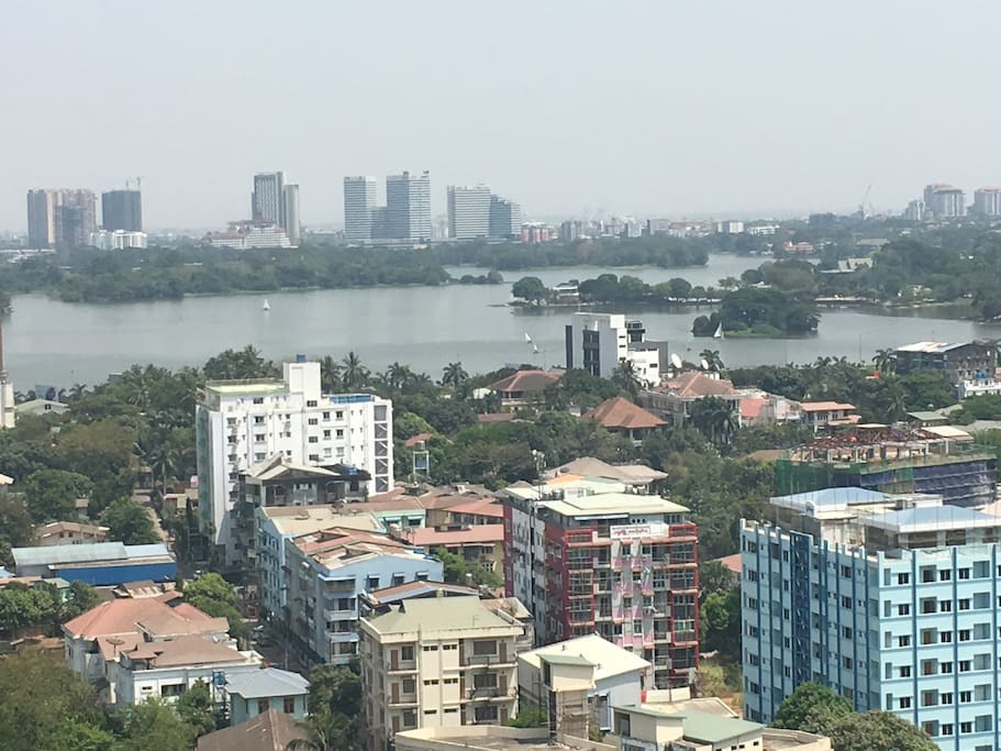 inya lake view from gallery12th floor