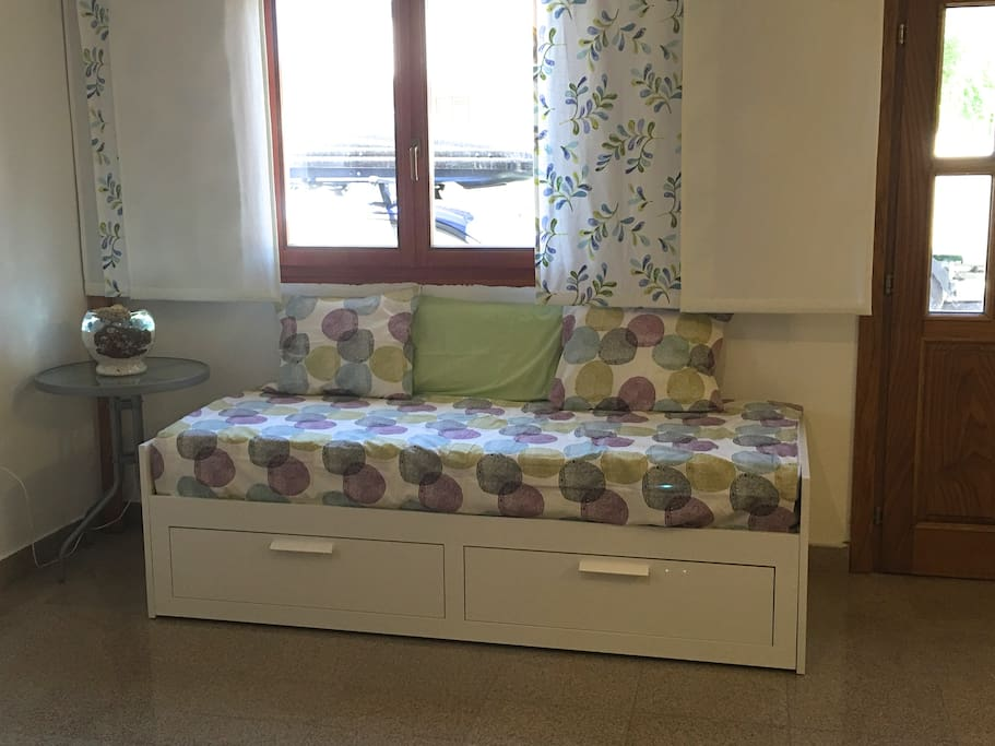 Additional bed in living room
