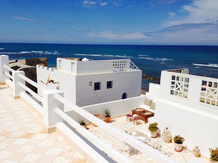 Villazila, une maison sur l'océan