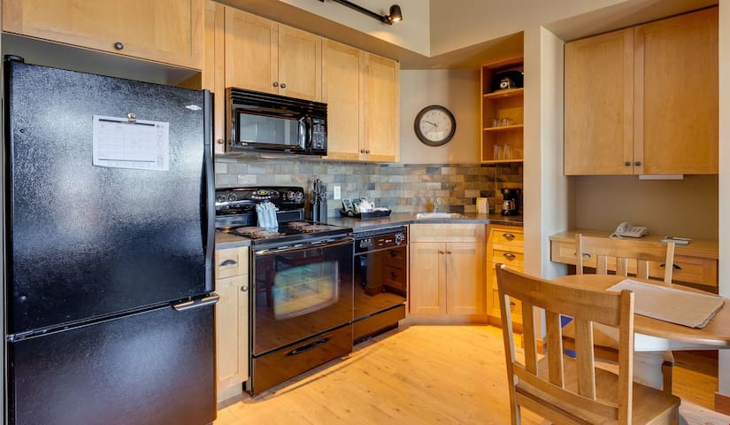 Prepare a delicious meal in the fully-equipped kitchen.