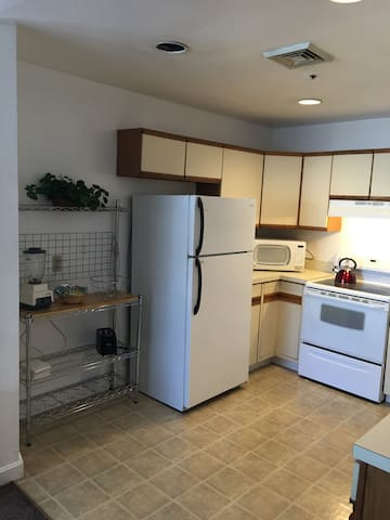 Kitchen with microwave and Keurig