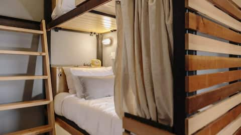 Bed in Bunk Room at The Society Hotel