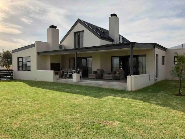 Large built in braai and well maintained enclosed lawn for the kids...