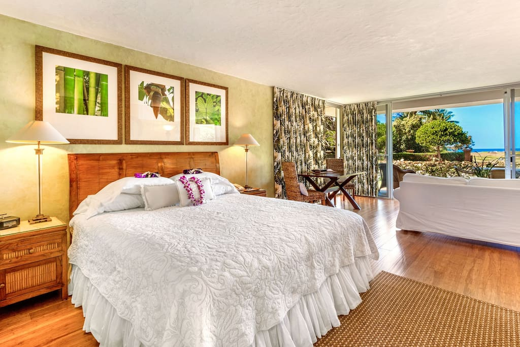 ocean view luxury studio beachfront snorkeling condos zur miete in lahaina hawaii. Black Bedroom Furniture Sets. Home Design Ideas